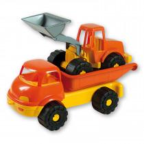Androni Wagen met Graafmachine