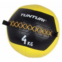 Tunturi Wall Ball 4 kg - Geel