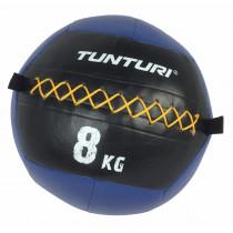 Tunturi Wall Ball 8 kg - Blauw