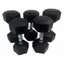 Tunturi Rubber Dumbbells Set - 12-20 kg -5 paar - 160 kg
