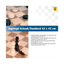 Schaak/Dambord 42 Cm Ingel. In Doos