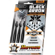 Harrows Black Arrow Military Grade Steeltip Dartpijlen
