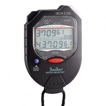 Hanhart - Delta E200 Multifunctionele Stopwatch met Geheugen - Zwart