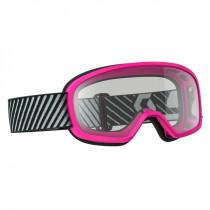 Scott Buzz MX Crossbril Junior - Roze - Clear