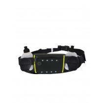 Rucanor Sportriem met Flesjes 2 LED - Zwart / Fluor Geel - 100 cm