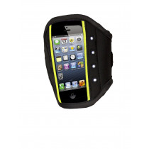 Rucanor Iphone 5 Sportband LED - Zwart / Fluor Geel