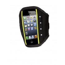 Rucanor Iphone 5 Sportband LED - Zwart / Fluor Geel