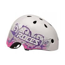 Roces Tattoo Aggressive Helm Unisex - Mat Wit / Violet