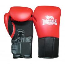 Lonsdale Performer bokshandschoen - Rood/Zwart - 12 oz