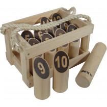 Bex Number Kubb Original rubberhout in houten kist
