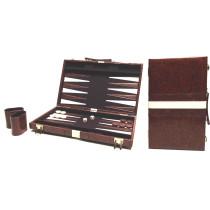 Backgammon Koffer - Bruin - 38 x 24 cm