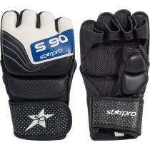 Starpro S90 MMA Leder Sparring Handschoen - Wit / Zwart / Blauw