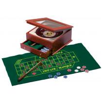 Roulette Set in Zwart Houten Kist - 36 cm