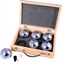 Jeu de Boules Set Metalen in Houten Kistje - 6 ballen