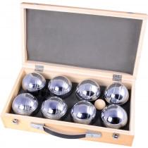 Jeu de Boules Set Metalen in Houten Kistje - 8 ballen