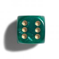Philos Parelmoer Dobbelsteen 12 mm 36 stuks - Groen
