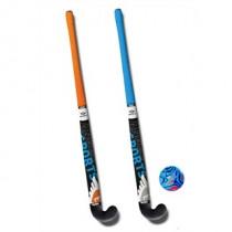 Hockeyset 2st Oranje En Blauw Kunststof 34 inch