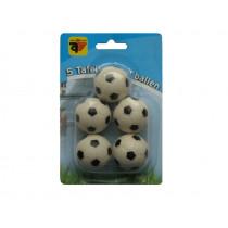 Tafelvoetbalballetjes Z/W - 5 Stuks