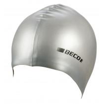 Beco Silicone Badmuts - Zilver metalic