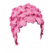 Beco Rubber Bloem badmuts - Pastel Roze