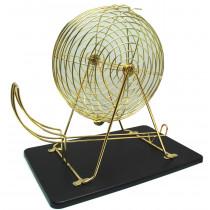 Bingomolen Koper Goud met Ballen en Bord - 43 cm