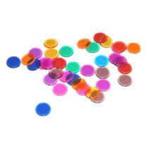 Bingofiches Transparant Gekleurd - 300 stuks