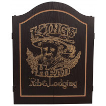 King's Head Dartkabinet Zwart/Goud