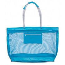 Beco Mesh Strandtas - Turquoise