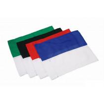 Hoekvlag 2 kleuren - Groen/Wit