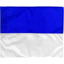 Hoekvlag 2 kleuren - Blauw/Wit