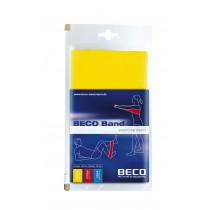 Beco Fitness/therapie Elastiek Rubber Light 15 x 150 cm - Geel