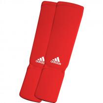 Adidas Elastische Scheen/Wreefbeschermers - Rood