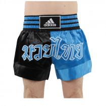 Adidas Thaiboksshort Half/Half -Zwart/Blauw