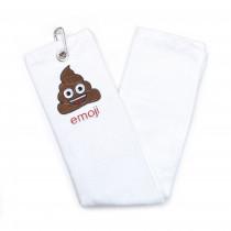 Emoji Golfhanddoek - Poop