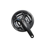Shimano Crank Set Altus M311 7/8-SP. 175/48X38X28+CG KK - Zwart