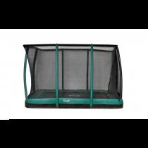 Inground Etan Premium Gold 0965 Combi Deluxe Trampoline + Veiligheidsnet - 281 x 201 cm - Groen
