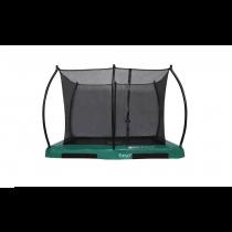 Inground Hi-Flyer 0965 Combi Trampoline + Veiligheidsnet - 280 cm x 200 cm - Groen