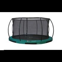 Inground Hi-Flyer 12 Combi Trampoline + Veiligheidsnet - Ø 370 cm - Groen
