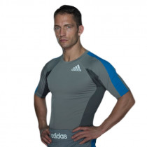 Adidas Fluid Technique Rashguard - Heren - Grijs/Blauw