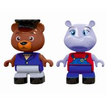 Aquaplay 234 Waterbaan - Speelfiguren Bo de Beer en Wilma het Nijlpaard