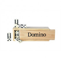 Longfield Dominospel Dubbel 6 Groot in Houten Doos