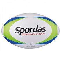 Spordas Max Rugby Bal - Maat 4 - Wit / Groen / Blauw