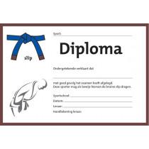 Diploma Twee Kleuren - Bruine Slip