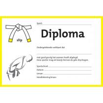 Diploma Twee Kleuren - Geel