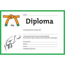 Diploma Twee Kleuren - Groene Slip