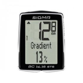 Sigma BC 14.16 STS Hoogte Fietscomputer - Zwart / Wit