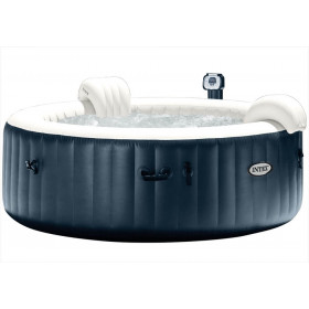 Intex Navy Bubble Jacuzzi Met Hardwatersysteem