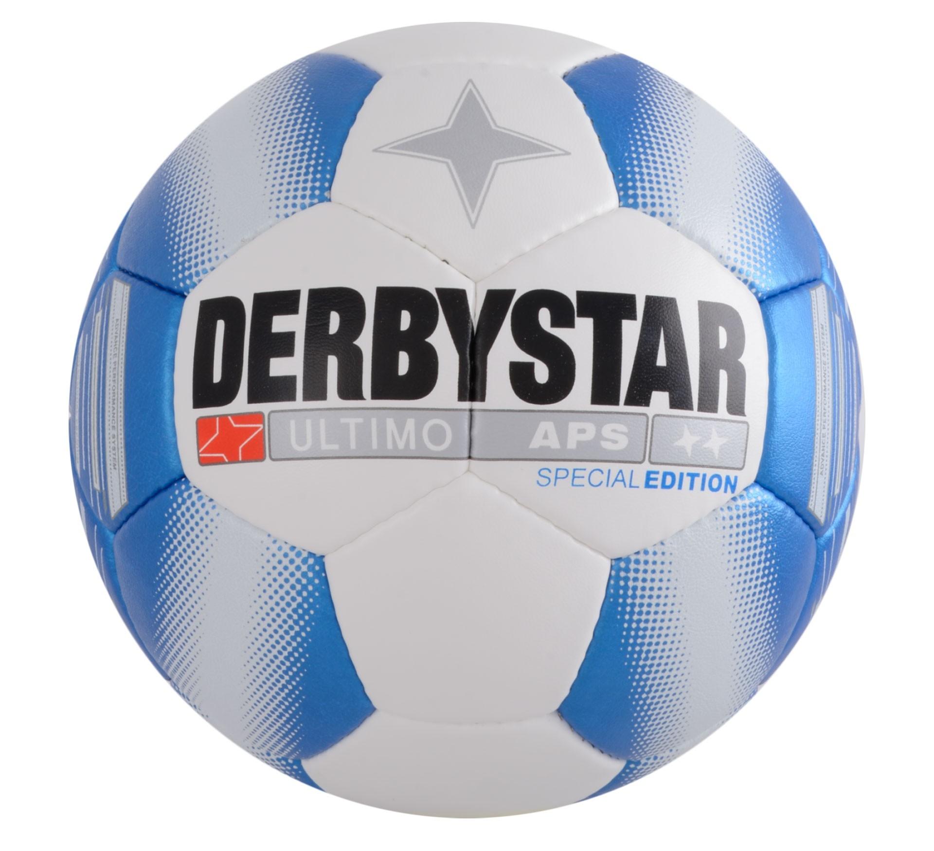 Derbystar Ultimo APS Football Edición Especial Tamaño 5 - Blanco / Azul