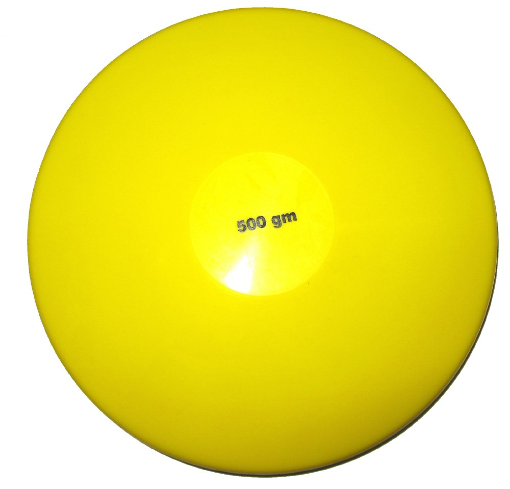 Image of   Blød gummi Diskus 500 g gul