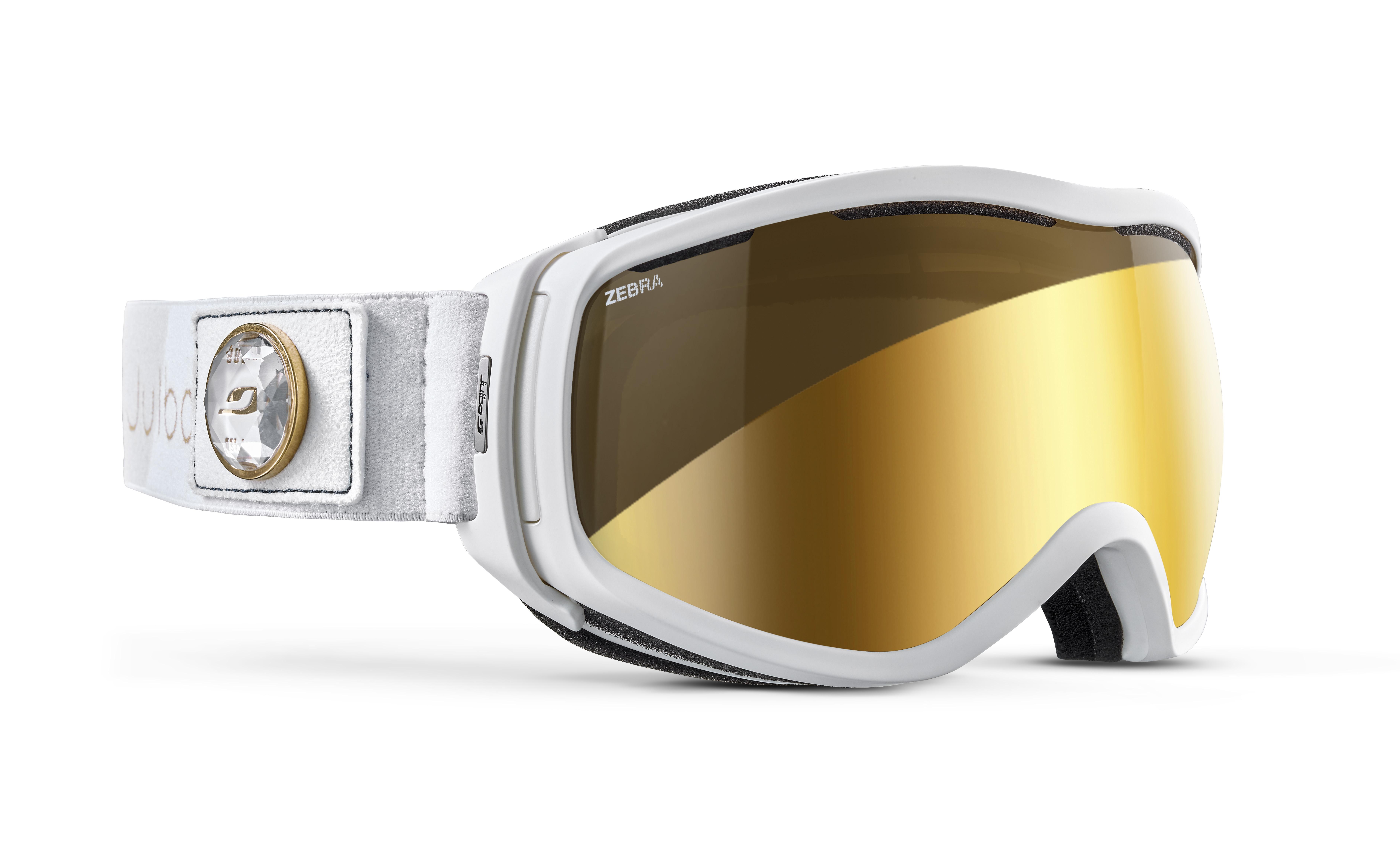 Image of   Julbo Elara Ski Goggles - White / Gold chic - Zebra